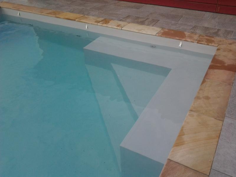 Construction d 39 une piscine 11 x 4 5 m avec liner arm gris for Construction piscine 45